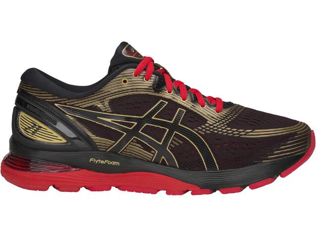 asics Gel-Nimbus 21 Buty do biegania Mężczyźni, black/classic red